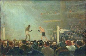 Ernst Oppler Boxkampf (im Berliner Sportpalast), 1920