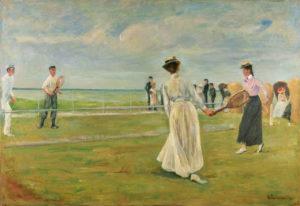 Max Liebermann: Tennisspieler am Meer, erste Fassung, 1901