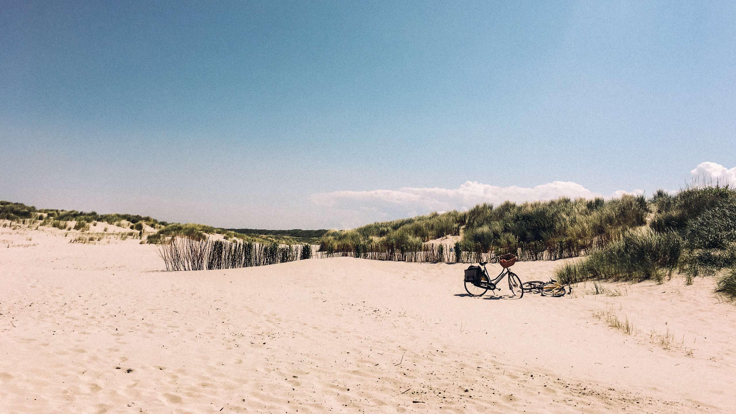Schiermonnikoog - mit dem Fahrrad am Strand