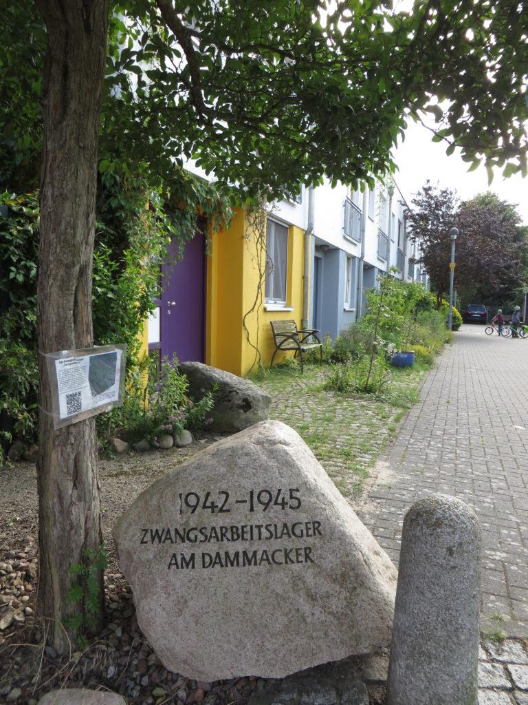 Gedenkstein des Zwangsarbeitslagers am Dammacker